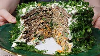 Печёночный торт  Супер рецепт #еда#тортизпечени#food#рецепты#еда