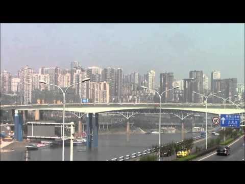 Jialing River Bridge viewed from Liziba 重慶李子坝から見た嘉陵江大橋