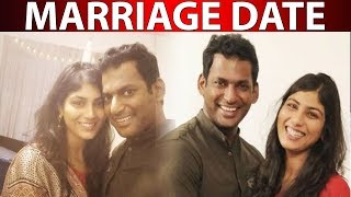 WOW Official Marriage Date For Vishal And Anisha Reddy..!