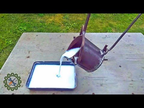 САМОДЕЛЬНЫЙ ТИГЕЛЬ ДЛЯ ПЛАВКИ АЛЮМИНИЯ/Homemade Crucible For Melting Aluminum