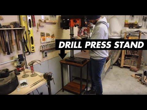 DIY Drill Press Stand // Metal & Wood