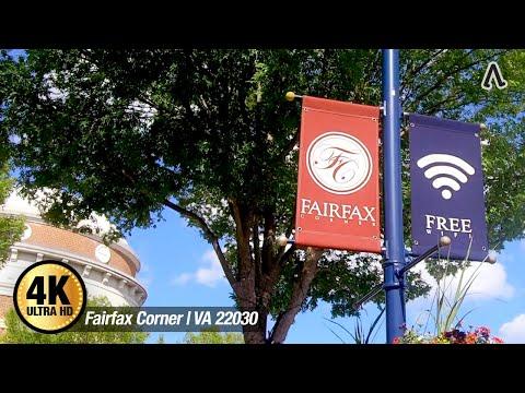 [4K] Fairfax Corner   VA 22030 #WalkingMap