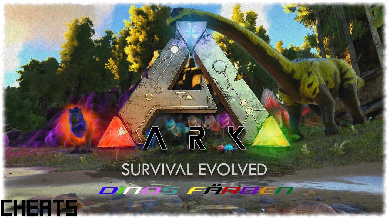 ARK: Survival Evolved - Selbst gefärbte Dinos [HD+/DE/Cheats] - YouTube