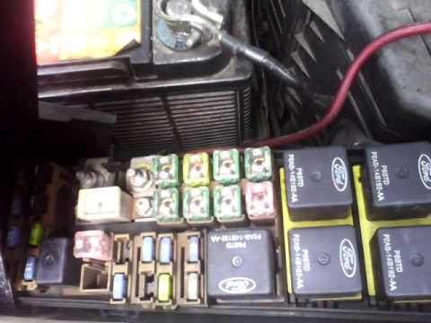 Ford escape fuse box - YouTube