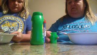 Making Fourth of July Slime