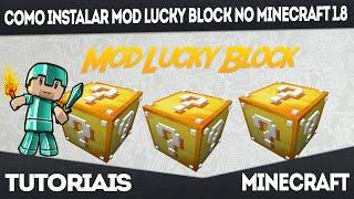 Como Instalar MOD Lucky Block No Minecraft 1.8.0/1.8.8