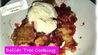 DOLLAR TREE DIY CHERRY DUMP CAKE | COOKING