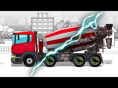 Good and Evil | Cement Mixer Truck | Haunted Cars and Trucks