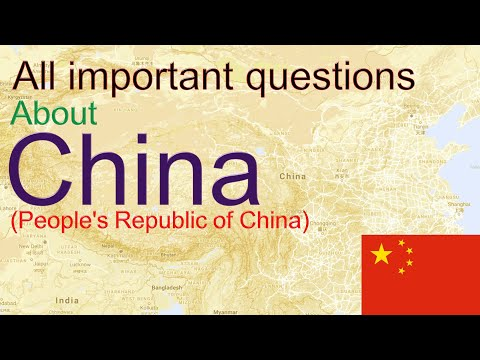 China: General Knowledge or GK Question on China