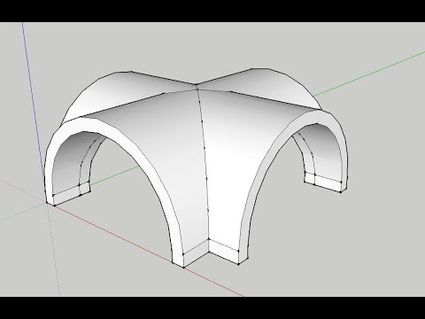 How To Make Groin Vault Or Cross Barrel Arch Vault In