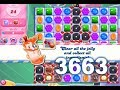 Candy Crush Saga Level 3663 (3 stars, No boosters)