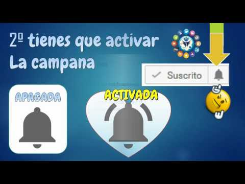 activar notificaciones de videos nuevos