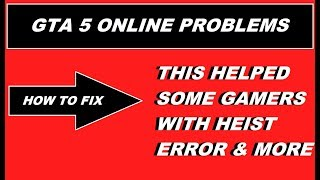 GTA 5 Online How to fix : can´t START HEIST , failed to download job , Server Error Message