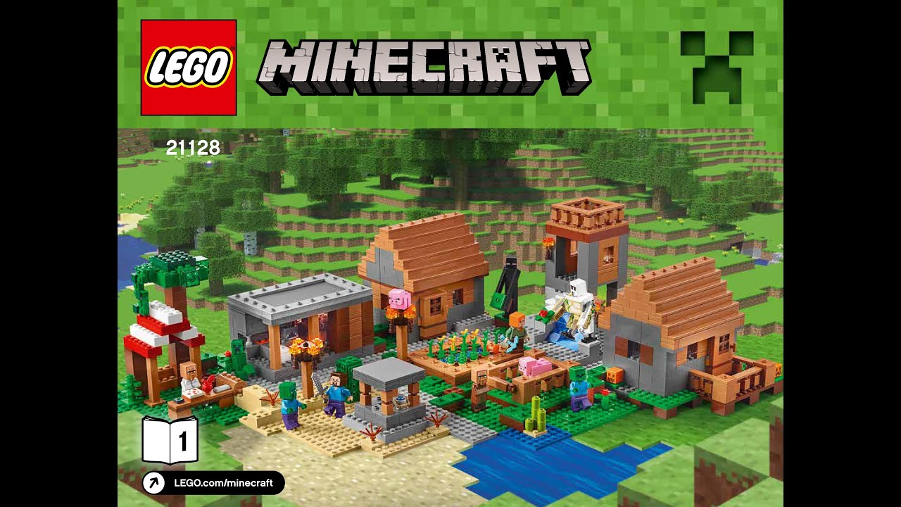 Lego Minecraft The Village 21128 Instructions Diy Book 1 Youtube