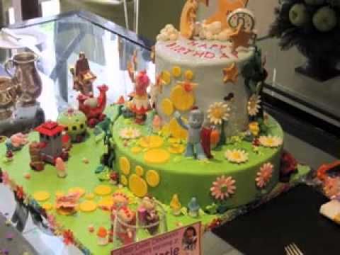 Garden cake ideas - YouTube