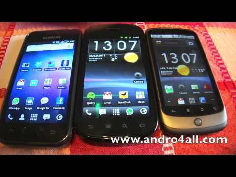 Comparativa Nexus S Nexus One Samsung Galaxy S [HD] [ESPAÑOL]