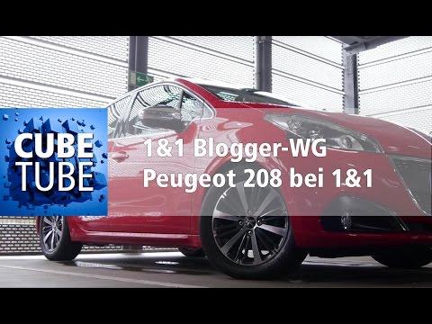 Auto bei 1&1? Die Flatrate für die Straße! Peugeot 208 in der 1&1 Blogger-WG