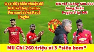 TIN BÓNG ĐÁ HÔM NAY: Pogba ra điều kiện để ở lại MU   MU kết hợp Bruno Fernandes và Paul Pogba ?
