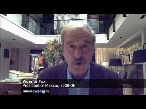 Vincente Fox to BBC on Trump and the Wall; strong language is used when talking about the Wall