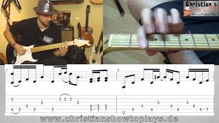 ★UNDER THE BRIDGE (100% richtig) - Red Hot Chili Peppers Gitarren Tutorial | Tabs/Noten+Head Cam★