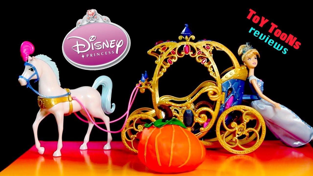 playdoh egg surprise and disney princess cinderella horse