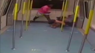 Video shows man beat woman alone in Miami's Metromover before attacking 2 others