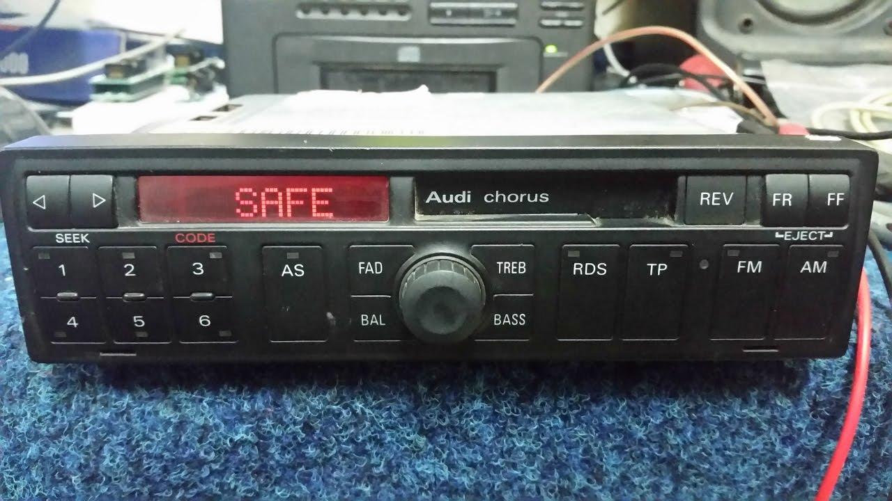 audi chorus radio blaupunkt auz1z2 unlock code youtube