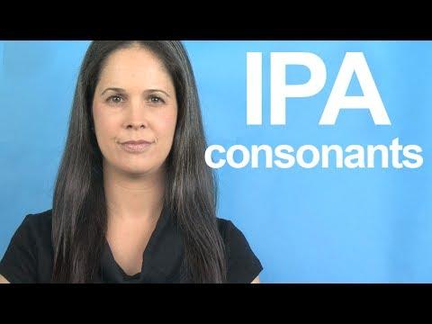 Learn The IPA -- Consonants -- American English