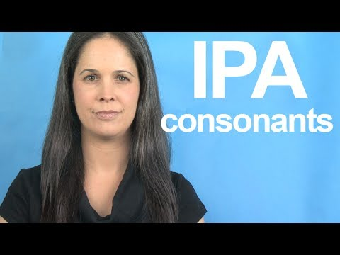 Learn the IPA -- Consonants -- American English