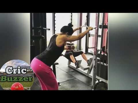 "Shikhar Dhawan's wife ""Ayesha Mukherjee"" Latest workout Session in Gym (2018) thumbnail"