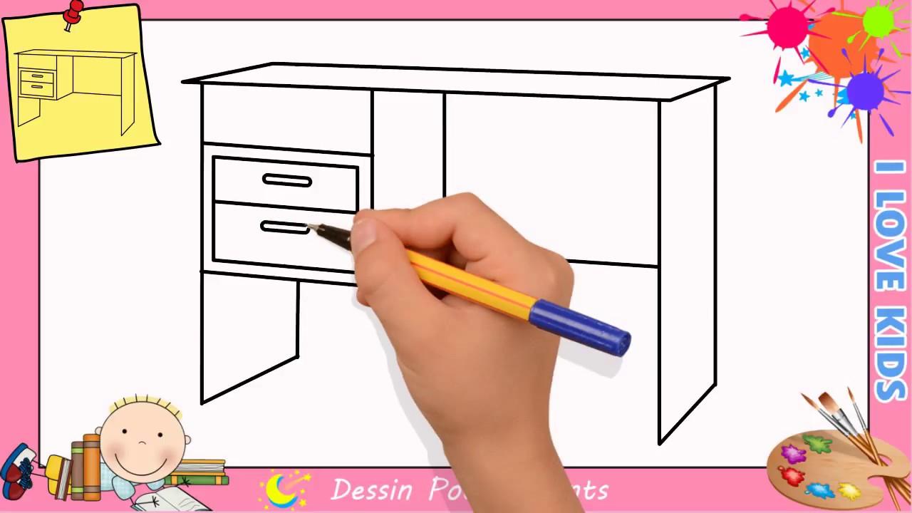 Comment Dessiner Une Table Facilement Etape Par Etape Pour Enfants