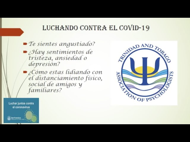 Luchando contra el COVID-19: Supporting the mental health of migrants in Trinidad and Tobago