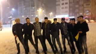 Sivas'a kar yağıyor sivaslılar halay çekiyor meydanda ♡°•○ Video