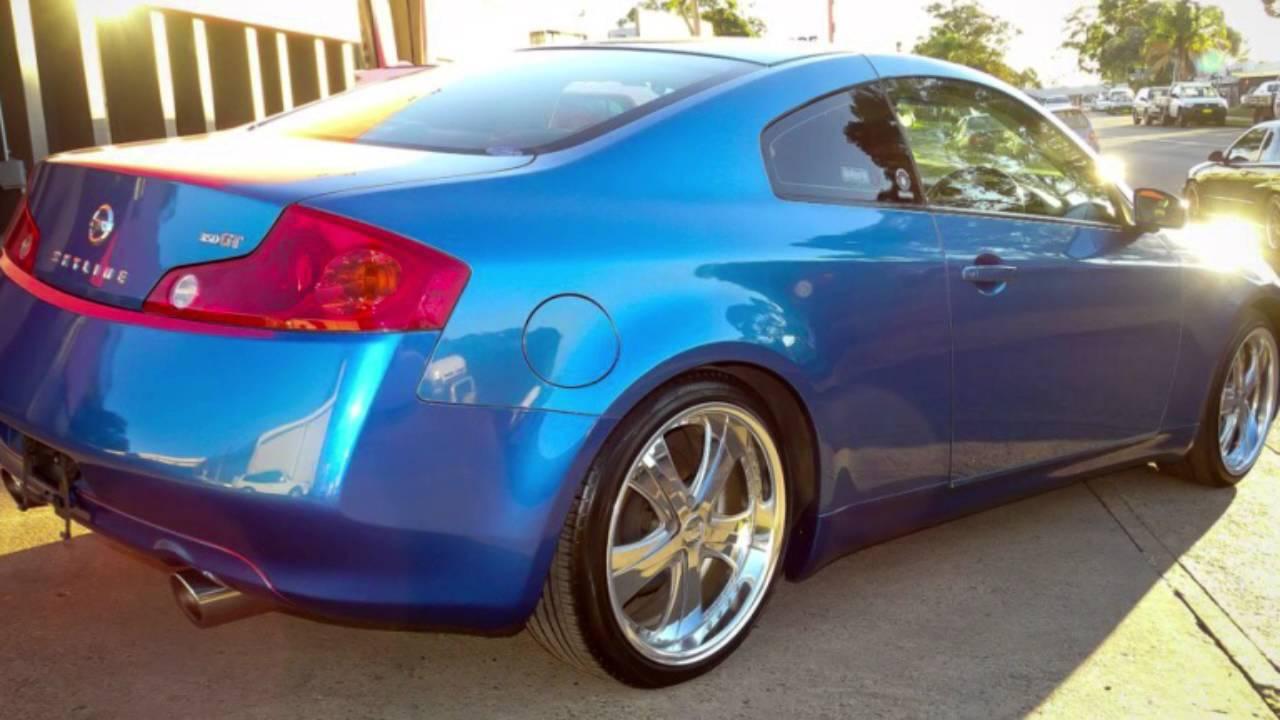 2003 nissan skyline v35 blue coupe youtube 2003 nissan skyline v35 blue coupe vanachro Choice Image