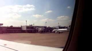 lufthansa a319 safety announcement in serbian during pushback at beg