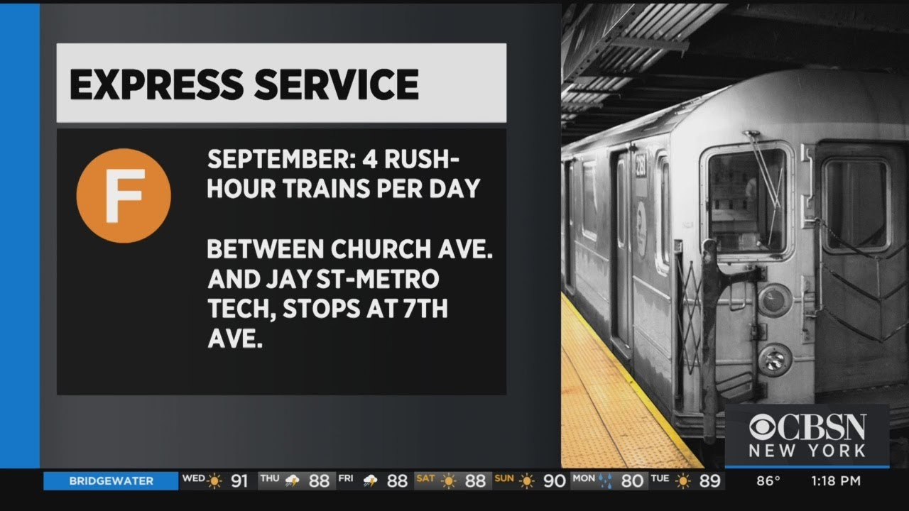 Express Service Coming To F Train Subway Line In Brooklyn This Fall