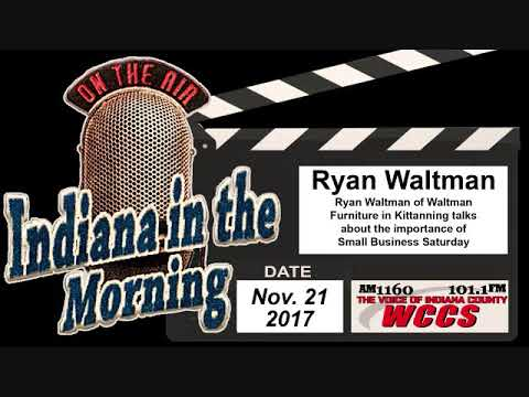 Indiana In The Morning Interview: Ryan Waltman (11 21 17)