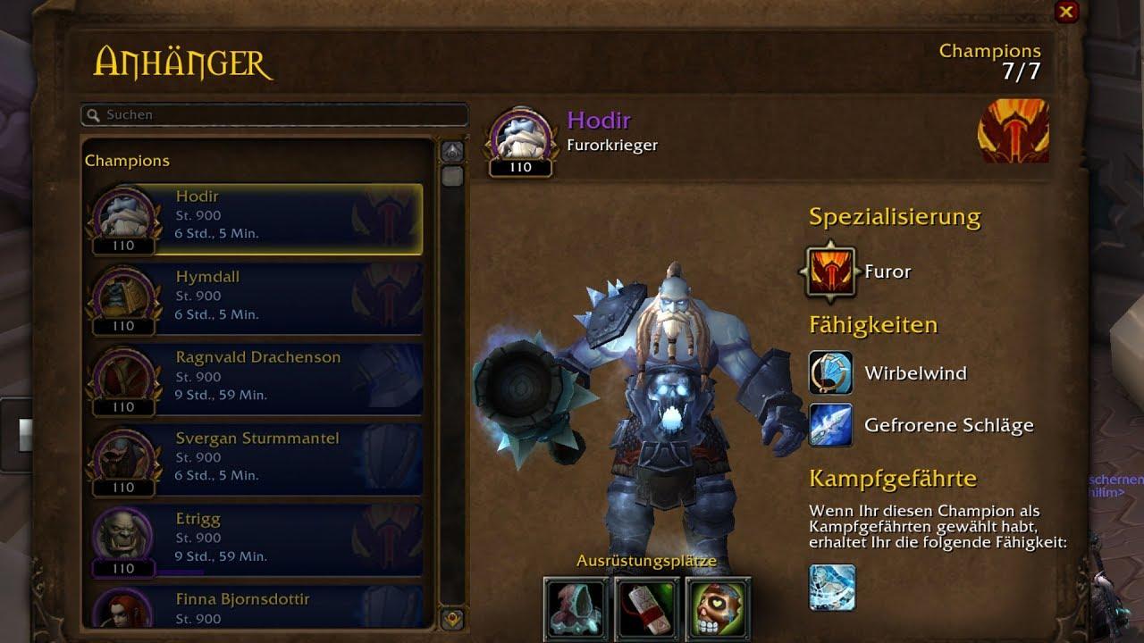 wow legion campaign warrior champion follower hodir protection