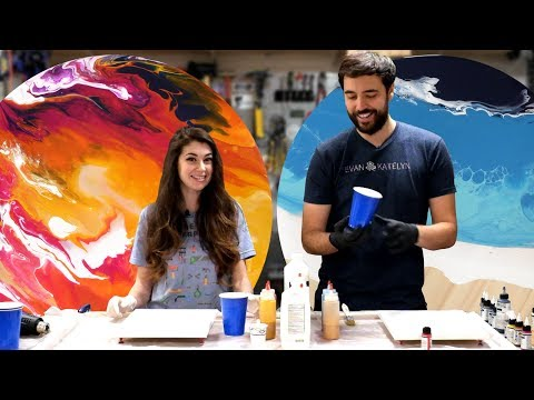 Let's Try an Acrylic Pour!