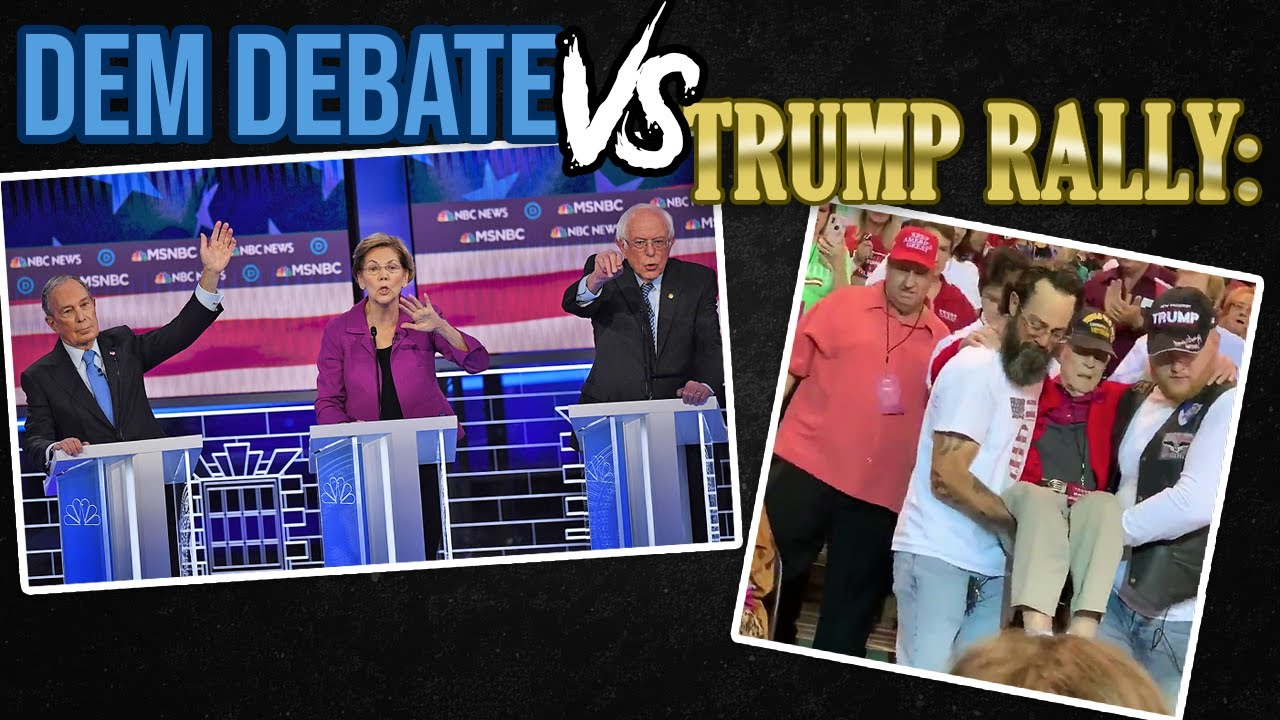 WHICH IS BETTER?! NBC News Democratic Debate MADNESS, or Carrying a Veteran at Trump Rally? -Glenn B