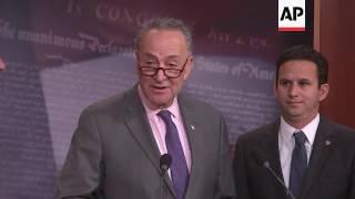 Senate leaders spar over Trump and his policies
