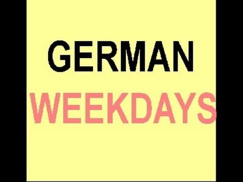 Days of the week in German / Months of the year in German
