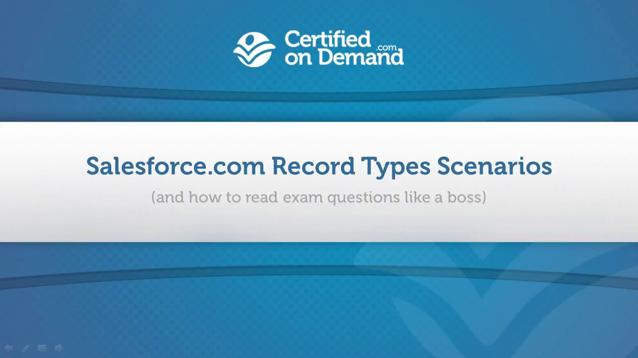 How to Read Salesforce com Exam Questions (Record Types Example)