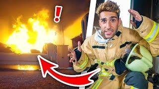 GROTE BRAND IN HUIS DOOR TELEFOON! - Mee met Brandweer