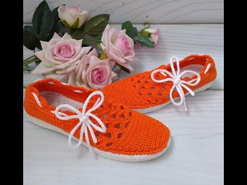 Вязаная обувь. Как завязать бантик. Как красиво завязать шнурок.  Шнурки. Вязаные мокасины.