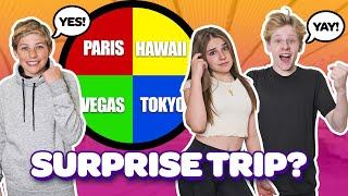 SURPRISING My CRUSH with a DREAM VACATION FUNNY Reactions   Piper Rockelle