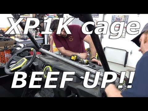 Polaris RZR XP1000 stock cage BEEF UP!