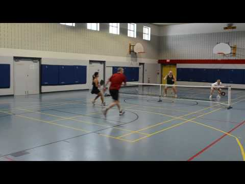 Recreation pickleball, Ottawa, ON, March 2, 2017, Games 3 & 4 of 8