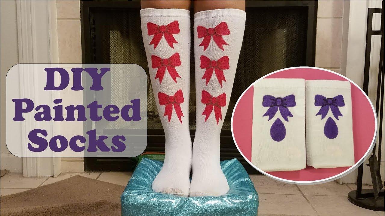 DIY Painted Socks