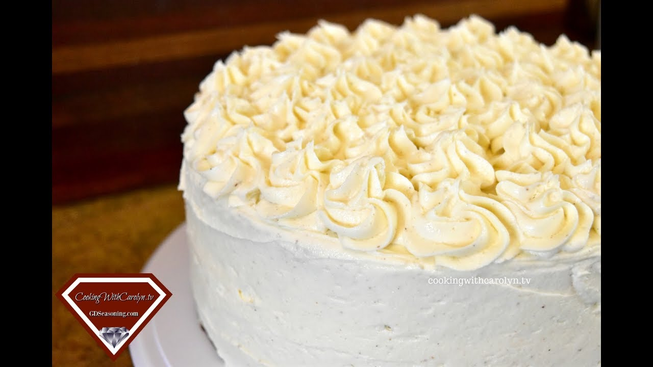 THE BEST EGGNOG CAKE WITH EGGNOG BUTTERCREAM |Holiday Series |Cooking With Carolyn